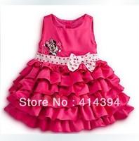 Free Shipping,children clothing 5pcs/lot girls dresses for summer vest dress Leopard grain dress with the girls