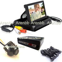 360 degree camera Parking sensor system 4.3 inch monitor system with 4 sensors radar detector  visible parking sensor AR-856