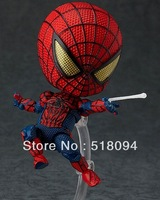 "EMS Free Shipping 42pcs/lot Cute Nendoroid 4"" Spider-Man Spider Man Spiderman PVC Action Figure Collection Model Toy#260 HRFG082"