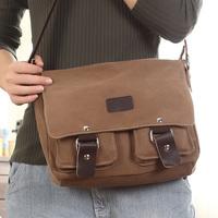 Bags 2013 vintage man bag male canvas bag shoulder bag messenger bag casual bag