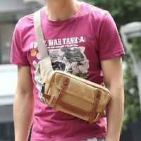 Bags 2013 man bag canvas bag messenger bag casual bag outdoor waist pack male chest pack