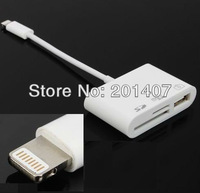 White smart USB micro sd card reader For IPad4 IPad mini Digital Camera Connection Kit Adapter SD TF Memory
