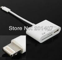 White smart USB micro sd card reader For IPad4 IPad mini Digital Camera Connection Kit Adapter SD TF Memory