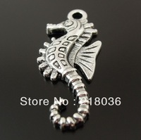 Wholesale  100pcs Antique Style Silver  Alloy Seahorse  Charms Pendants DIY Making Jewelry  25*12 mm  M2178