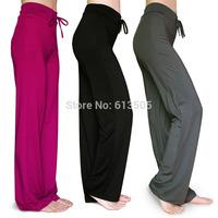 Women Sport trousers plus size S-4XL female slim fitness workout clothes yoga pants solid color loose dance wear 3 colors 2014