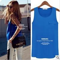 2014 NEW, plus size European style ALL-MATCH elegant cute ladies tank tops, women's  t shirt S/M/L/XL