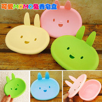 Free shipping 2013 fashion F074 cartoon momo rabbit soap box smiley soap box everydays
