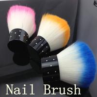 [SZZ-001]3PCS/LOT Soft Nail Dust Brush Manicure Tool Cosmetic Brush + Free Shipping