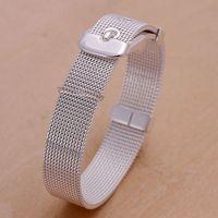 Promotion 925 14mm silver plated bracelet watch band Gift bracelet fashion jewelry