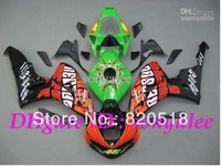 Pre-drilled Injection mold green black orange white red for Honda CBR1000RR 2006 2007 CBR1000 RR CBR 1000RR 06 07 body kit + 3gi