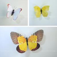 12pcs 3D Wall Sticker Butterfly Home Decor Decorations Butterflies Refrigerator fridge Magnet Stickers girls room Yellow-Serie
