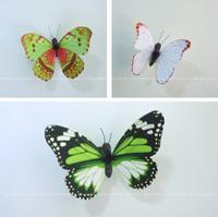 12pcs 3D Wall Sticker Butterfly Home Decor Decorations Butterflies Refrigerator fridge Magnet Stickers girls room Green-Serie
