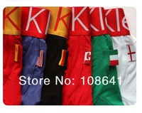 High Quality 200pcs/set Men's Underwear Boxers Briefs Modal Underwear Flag Pants Man Underwear Boxer Shorts