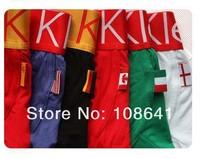High Quality 200pcs/set Men's Underwear Boxers Briefs Modal Underwear Flag Pants Man Underwear Boxer Shorts