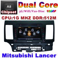 Car DVD Mitsubishi Lancer GPS Radio Auto Multimedia 1G CPU 1080P 3G Host HD Screen S100 DVR Audio Video Player Free Ship EMS DHL