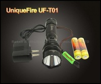 UniqueFire UF-T01 Cree XM-L U2 1200LM Rechargeable LED Flashlight Searchlight Torch with retail box +2x18650 battery + charger