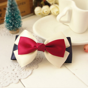 2013 new arrive Handmade fabric bow hair clips bow side-knotted clip hair accessory 1199  cheap