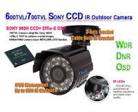 600TVL/700TVL Effio-E SONY CCD Color Waterproof IR Outdoor surveillance security CCTV camera, 20M IR distance Free shipping