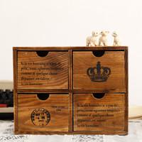 Zakka letter solid wood cabinet storage cabinet finishing drawer cabinet postmarked