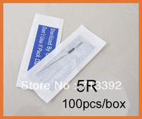 5R-Makeup Eyebrow Needles Sterilized 100pcs  Permanent Makeup Needles Tattoo Needle Free Sh ipping