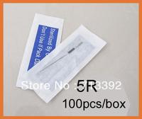5R-Makeup Eyebrow Needles Sterilized 100pcs  Permanent Makeup Needles Tattoo Needle Free Sh ipping