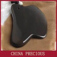 Free shipping 5A grade Original Si Bin Xuan yellow multifunctional bian stone facial scrapping plate stone needle 100x60x8mm