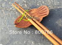 Free Shipping ! 100PCS/Lot , Wholesale Hight Quality Fish Shape Beauty Wooden Chopsticks Holder / Chopsticks Rack