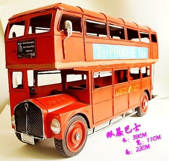 Double layer big bus alloy car models alloy car model finished product toy