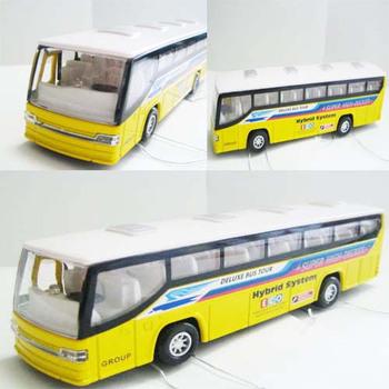 Boxed luxury bus WARRIOR model car alloy bus acoustooptical , open the door