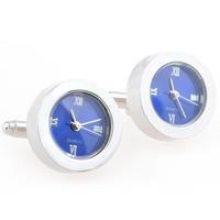 Blue Round Watch Cufflinks