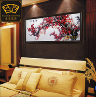(No 1025429443 )plum flower *handmade su Zhou embroidery*unique Christmas /wedding gift*innovative handicraft home decoration