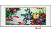 (No  1025420651 ) fish*handmade su Zhou embroidery*unique Christmas /wedding gift*innovative handicraft home decoration