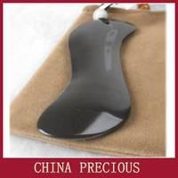 Free shipping 5A grade Original Si Bin Xuan yellow multifunctional bian stone facial guasha plate stone needle 115x70x15mm