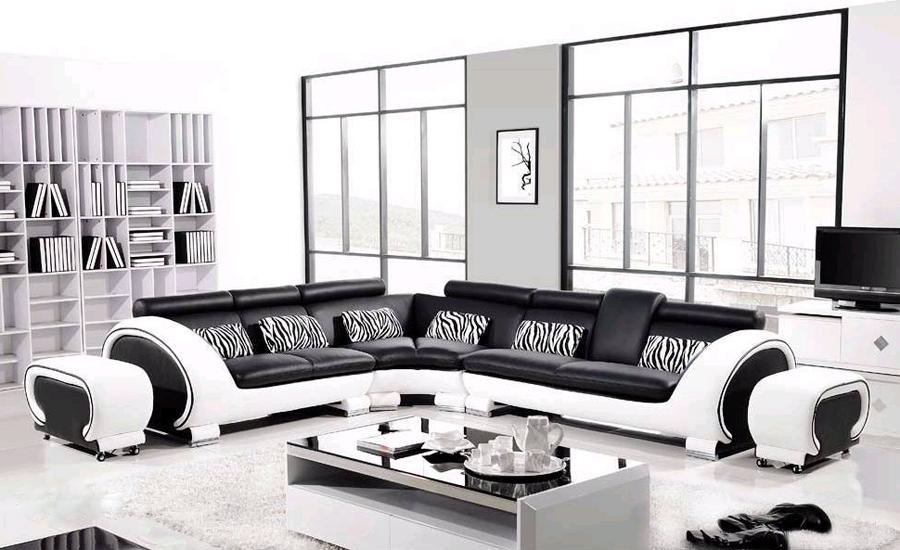 Luxe meubilair hoekbank bed modern meubilair paarse woonkamer set elegante woonkamer meubels in - Woonkamer banken ...