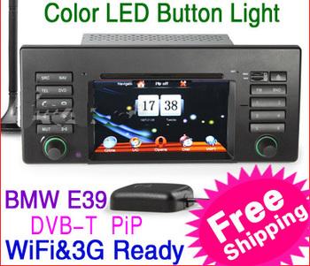 "KS1139 6.2"" 2 din HD Car DVD Player Radio for BMW E39 X5 E53 M5 with GPS Units DVB-T IPOD TV WiFi 3G Free maps+Free Shipping"