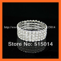 Free Shipping ! 100pcs/lot Elastic Napkin Ring ,Multi- Row SS16 A quality,use as crystal bracet/souvenir,wedding accessories