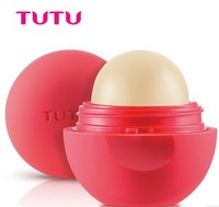 free shipping ball shape light color  Ve nature lip balm lip moisture