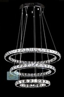 FREE SHIPPING diameter(50,40,30)cm New Modern LED Round Crystal Lamp Diamond Ring Chandelier lighting Pendant lamp