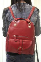Backpack preppy style candy color  school bag fashion vintage preppy style single double-shoulder dual-use package