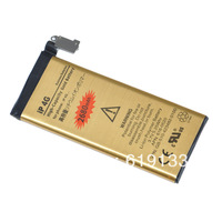 High capacity 2680mah gold business Battery For iphone 4 4G Batterie Batterij Bateria akku accu PIL  free shipment