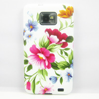PEONY FLOWER TPU GEL SILICONE BACK CASE COVER SKIN COATING FOR SAMSUNG GALAXY II S2 I9100 49