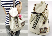 2014 new term women's canvas khaki backpack,the fashion knapsack and school bags student bag for girl & women