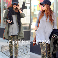 Womens Graffiti Style Slim Camouflage Stretch Trouser Army Leggings Pants CY0611 Free shipping Dropshipping