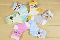 free shpping New arrival hot-selling 100% cotton children socks small kid's socks baby floor socks
