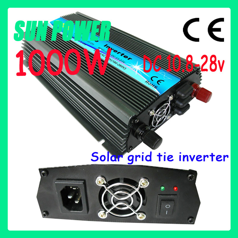 Free shipping 4pcs /lot 1000w smart micro solar grid tie inverter DC10.5V~28V, AC 90V-140V/180V~260V, 50Hz or 60Hz(China (Mainland))
