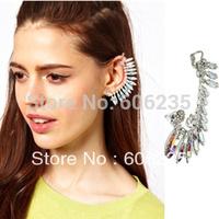 Free shipping full rhinestone bride no pierced earrings ear hook stud earring earrings
