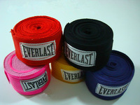Free shipping Sanda everlast 100% cotton bandage strap  boxing gloves muay thai cotton bandage