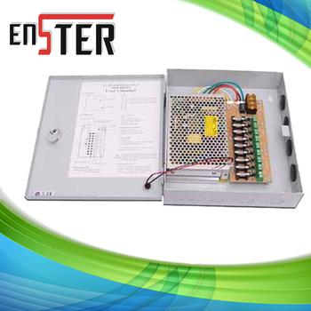 CCTV camera power supply  BOX,3 Amp 4 Channel CCTV Camera Cables,CCTV Camera Metal Boxed Power Supplies