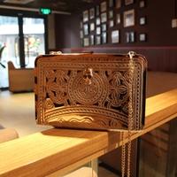 Aimali style 2013 A.IM.A.LI cutout vintage day clutch m mao rhinestone skull chain handbags  wholesale