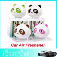 Free shipping New Panda refreshing fragrance car Air Freshener Perfume Diffuser Block For Car/Motor/Home perfume wholesale